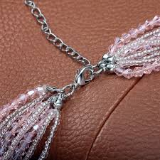 multi rope necklace images Multistrand crystal and seed bead necklace pink end multi strand beade jpg