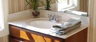 Stainless Steel Sink With Bronze Faucet Bathroom With Bronze Faucet And Cultured Marble Vanity Tops