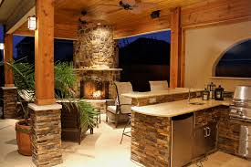 outside kitchens ideas kitchen warming summer kitchen decor idea with fireplace