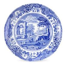 spode blue italian set of 4 dinner plates spode usa