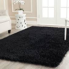 Trendy Rugs Plush Black Shag Power Loom And Shag Rugs