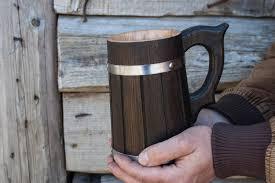 Wooden Groomsmen Gifts Wooden Beer Mug 0 7 L 23 Oz Wedding Gift Groomsmen Gift Beer