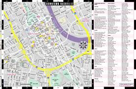 Nashville Metro Maps by Streetwise Nashville Map Laminated City Center Street Map Of