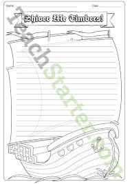 pirate ship writing template teaching resource u2013 teach starter