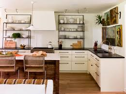modern kitchen without cabinets that 70 s kitchen from drab to fab