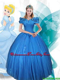 cinderella quinceanera new style gown the shoulder lace up cinderella