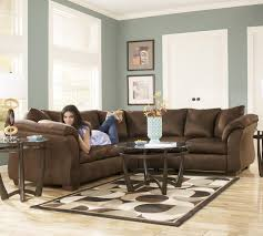 pillow arm leather sofa contemporary sectional sofa with sweeping pillow arms by signature