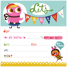 marvelous free printable kids birthday party invitations templates