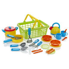 kiddyplay tea set cutlery pans childrens kids pretend play kitchen