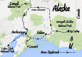 Alaska State Map by Alaska Wildland Adventure Brushbuck Wildlife Tours