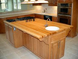 custom wood countertop options knife storage