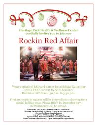 heritage park health and wellness invites you to join our rockin