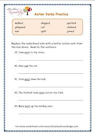grade 3 grammar topic 2 action verbs worksheets lets share
