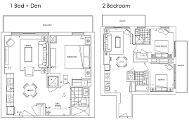 One Bedroom And A Den 101 Erskine Condos Floor Plans