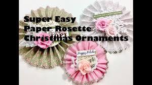 live diy christmas ornaments u0026 decors super easy paper rosette