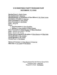 christmas concert program templates targer golden dragon co