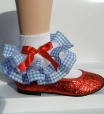 Toddler Dorothy Halloween Costume Easily Beautiful Ruby Glitter Slippers