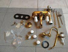 Glacier Bay Bathroom Vanity by Glacier Bay Bathroom Faucet Brass Gold White Handles Ebay