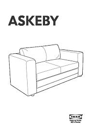 Two Seater Sofas Ikea Askeby Two Seat Sofa Bed Black Ikea United Kingdom Ikeapedia