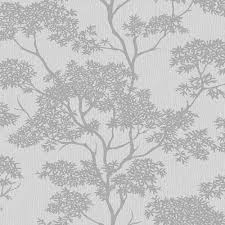 i love wallpaper glamour tree wallpaper grey silver ilw980065