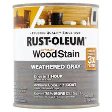 rust oleum weather gray ultimate wood stain 32 fl oz walmart com