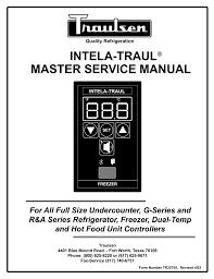 traulsen master service manual