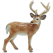 porcelain miniature deer buck figurine animal emporium