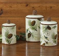 walk in the woods lodge canister set 3 pcs rustic kitchen
