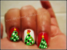christmas tree nails got a style