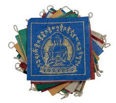 paper prayer flag 8 ft medicine buddha handmade and fair trade