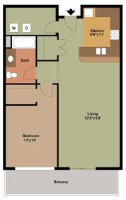 One Bedroom Apartment Floor Plans by 1 Bedroom Floor Plans 1 Bedroom Floor Plan Plan G Madison