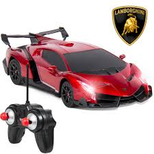 Lamborghini Veneno Back View - 1 24 officially licensed rc lamborghini veneno sport racing car w