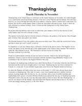 History Of Thanksgiving For Thanksgiving History Thanksgiving Worksheets Festival Collections