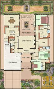 House Plans With Courtyard Center Atrium House Plans Luxihome