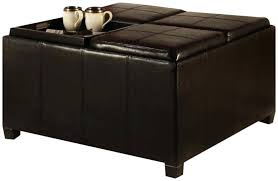 round ottoman coffee table ideas leather costco storage uk