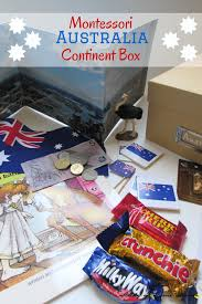 Do Continents Have Flags Montessori Geography For Kids Australia Continent Box