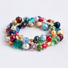 turquoise pearls bracelet images Stretch bracelet margaret palmer jewelry jpg
