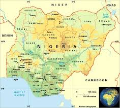 nigeria physical map nigeria map nigeria nigeria map and rivers