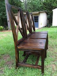 Outdoor Wood Dining Chairs Handmade Dining Chairs With X Back Handmade Furniture Http