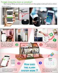 How Does Home Design App Work by Kerui G19 Ios Android App Gsm Home Alarm System Door Window Sensor