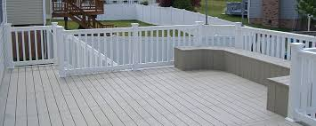 fence railing vinyl decking penn fencing