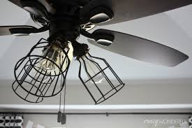industrial cage light bulb cover diy cage light ceiling fan crazy wonderful
