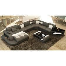 canapé angle design canapé d angle design panoramique gris et blanc achat vente