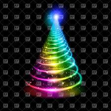 rainbow christmas tree christmas lights decoration