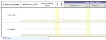 fmea in excel with snapsheets xl