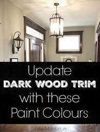 the best neutral paint colours to update dark wood trim doors