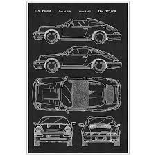 porsche poster vintage porsche patent blueprint poster car photo art u2013 paper blast