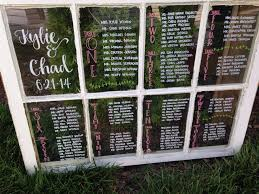 window pane seating charts for the rustic wedding rustic window