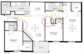 Floor Plan Bed by Three Bedroom Flat Plan With Design Picture 70532 Fujizaki