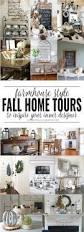 farmhouse style fall home tours domestically creative